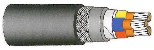 MICA/XLPE/LSOH/GSWB/LSOH marine cable