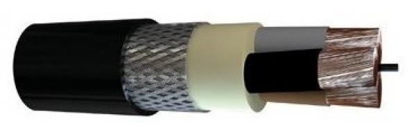 Black Marine Shipboard Cable